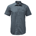 Storm Grey Checks Short-Sleeved Button Up