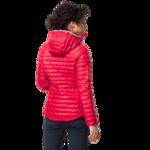 Clear Red Windproof Down Jacket Women