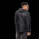 Black Hybrid Down Jacket Men