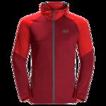 Dark Lacquer Red Water Repellent Fleece Jacket