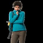 Dark Cyan Fleece Jacket Women