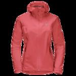 Coral Red Rain Jacket Women
