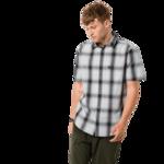Dusty Grey Checks Organic Cotton T-Shirt Men
