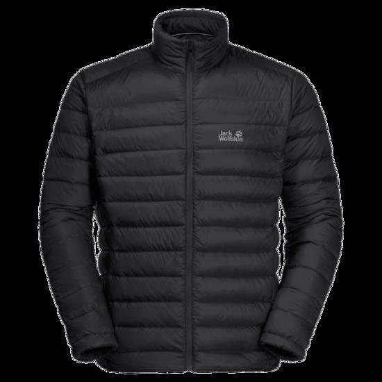 Black Windproof Down Jacket Men