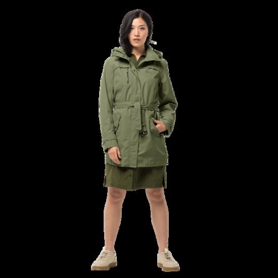 Light Moss Classic Trench Coat Women