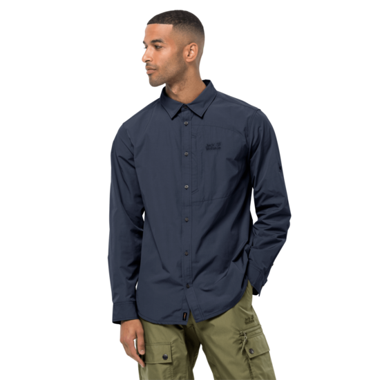 Night Blue Mosquito Protection Roll-Up Shirt