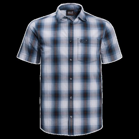 Night Blue Checks Organic Cotton T-Shirt Men