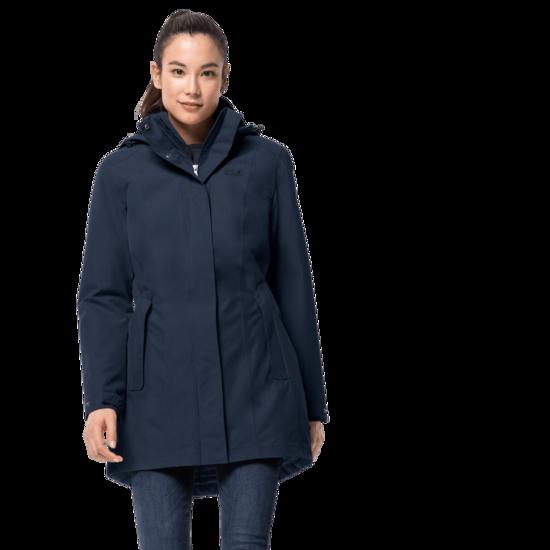Midnight Blue Winter Hardshell Coat Women