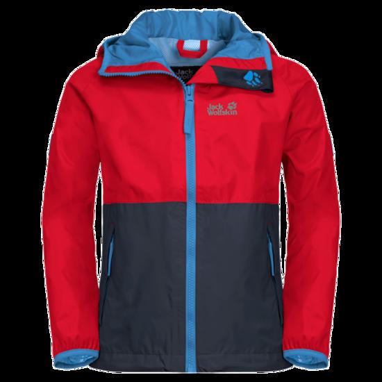 Peak Red Kids' Rain Jacket