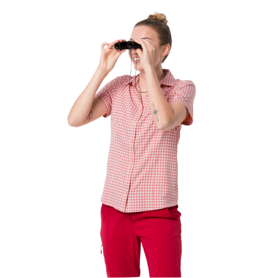Blush Pink Checks Lightweight Buttondown