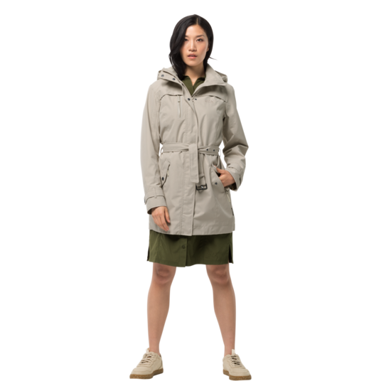 Dusty Grey Classic Trench Coat Women