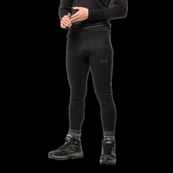 Black Merino Wool Blend Thermal Tights