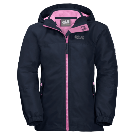 Midnight Blue 3-In-1 Hardshell Jacket Girl