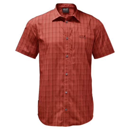 Mexican Pepper Checks Short-Sleeved Button Up