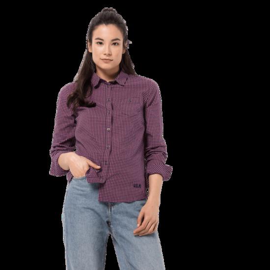 Midnight Blue Checks Flannel Shirt Women