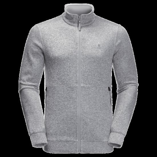 Slate Grey Sweat Jacket Men