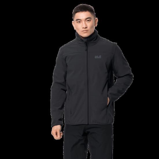 Black Windproof Softshell Jacket Men